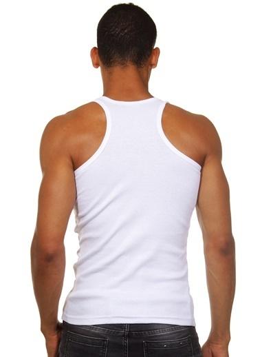Darkzone Slim Fit Erkek Atlet Beyaz